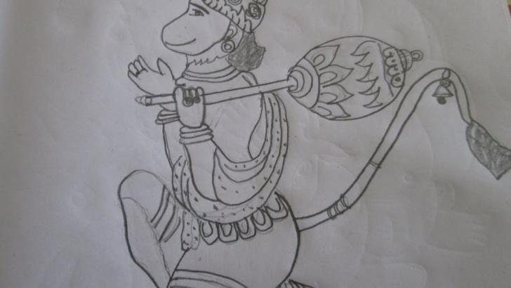 Inspiring Hanuman Pencil Art Techniques Lord Hanuman Image Drawing Tutorial Video Pics