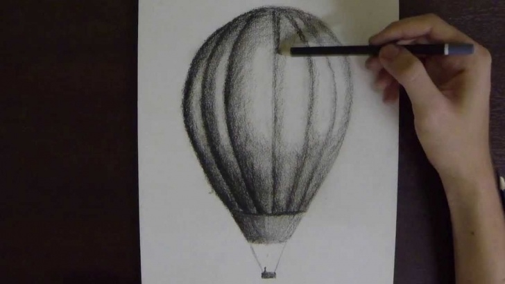 Inspiring Hot Air Balloon Pencil Drawing Tutorial Hot Air Balloon In Charcoal On Paper - Time Lapse - Youtube Picture