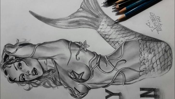 Inspiring Hot Pencil Sketches Free Hot Erotic Mermaid Drawing Photo