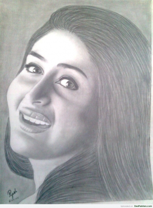 Inspiring Kareena Kapoor Sketch Easy Pencil Sketch Of Kareena Kapoor | Desipainters Pics