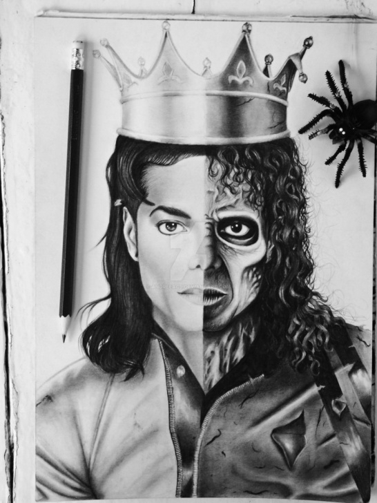 Inspiring Michael Jackson Pencil Drawing Step by Step Michael Jackson Drawing, Pencil, Sketch, Colorful, Realistic Art Picture
