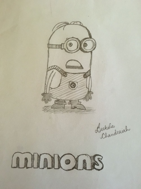Inspiring Minions Pencil Sketch Easy Minions Pencil Sketch | My Work :) | Sketches, Pencil Image