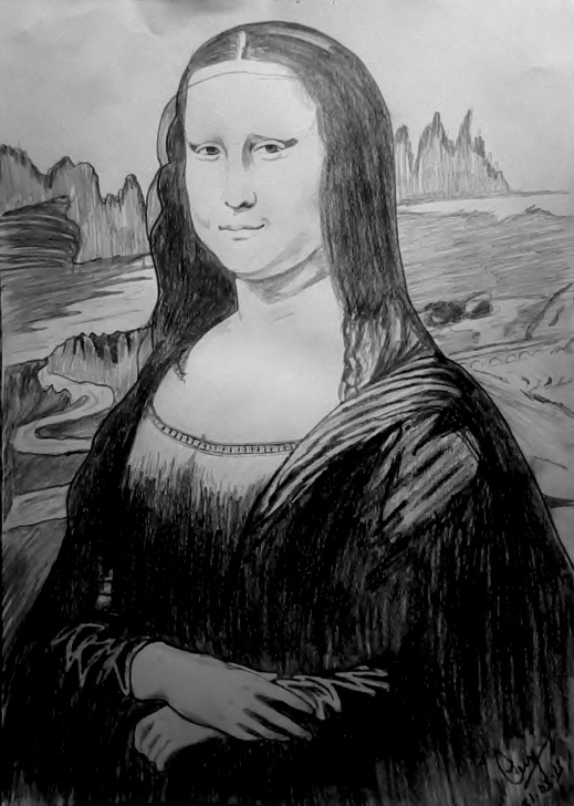 Inspiring Mona Lisa Pencil Drawing Tutorial Pencil Sketch Of Mona Lisa | Desipainters Photos