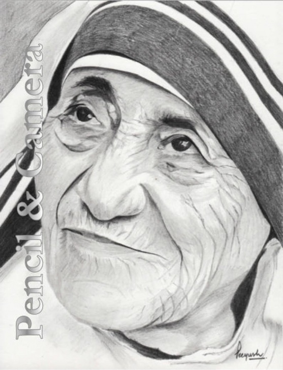 Inspiring Mother Teresa Pencil Sketch Tutorials Mother Teresa (2) Picture
