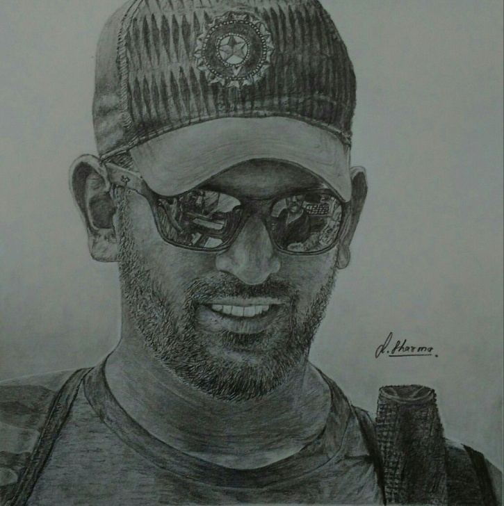 Inspiring Ms Dhoni Pencil Sketch Tutorials Drawing Of Ms Dhoni #dhoni #indiancricketer | Sketches | Art Pictures