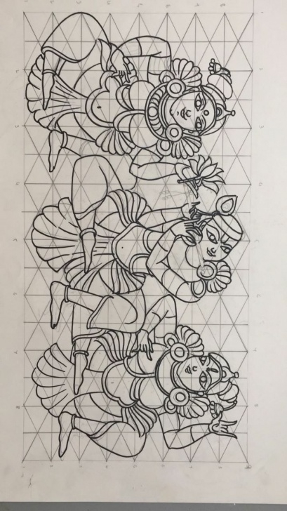 Inspiring Mural Pencil Drawings Techniques Line Drawing | Art In 2019 | Kerala Mural Painting, Kalamkari Image