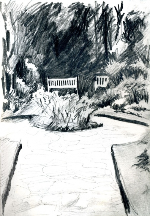Inspiring Park Pencil Drawing Techniques for Beginners Park Bench Pencil Sketch. | Art Drawing | Art Drawings, Drawings Picture