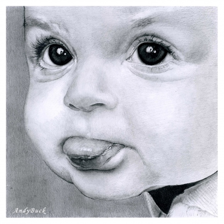 Inspiring Pencil Drawing Baby for Beginners Pencil Sketch Of A Baby At Paintingvalley | Explore Collection Photo