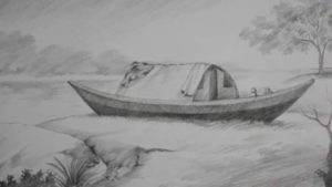 Inspiring Pencil Shading Drawing For Beginners Tutorial Pencil Shading Tutorial | How To Draw A Boat & A Riverside Landscape Images