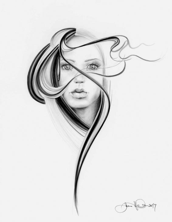 Inspiring Pencil Sketch Modern Art Courses Minimalist Art Print Fine Art Originals Giclee Art Print Of A Girl Images