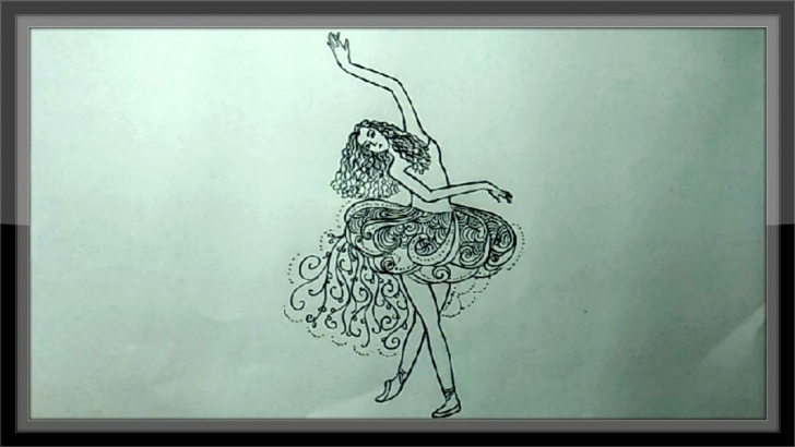 Inspiring Pencil Sketch Of Dancing Girl for Beginners Simple Pencil Drawing A Beautiful Dancing Girl Picture ➤Easy Pic