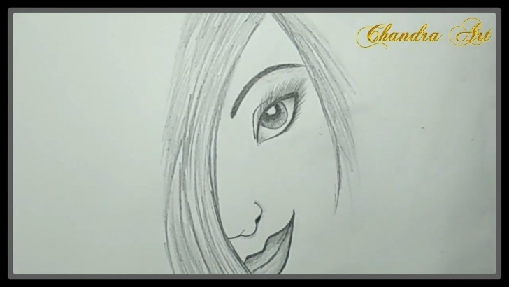 Inspiring Pencil Sketch Of Girl Tutorials Cool Pencil Drawing - How To Sketches A Girl Face #easy Image