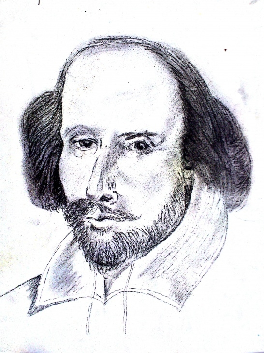 Inspiring Pencil Sketch Of William Shakespeare Simple William Shakespeare. One Of My First Pencil Sketches | My Creations Images