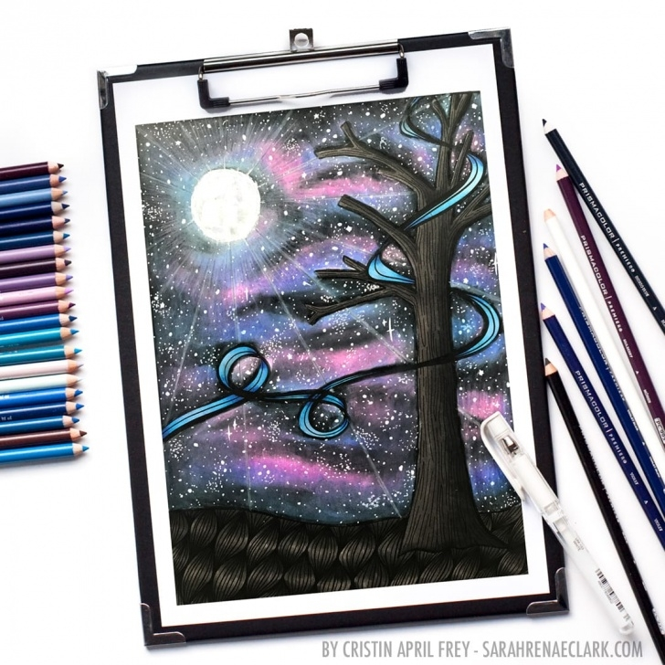 Inspiring Prismacolor Drawings Step By Step Easy How To Create A Galaxy With Colored Pencils | Prismacolor Tutorial Images