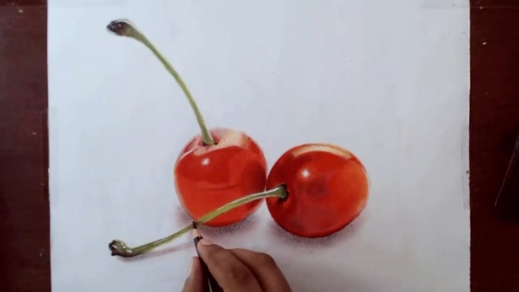 Inspiring Prismacolor Drawings Step By Step Ideas Drawing Cherries - Prismacolor Pencils Photo
