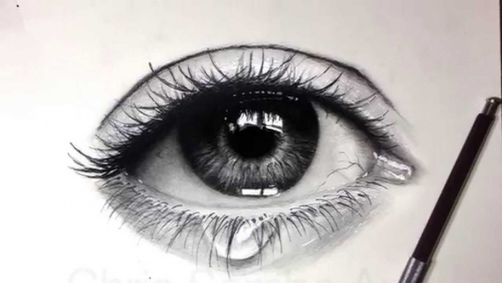Inspiring Realistic Eye Pencil Drawing Tutorials Drawing A Realistic Eye With Charcoal | Drawings In 2019 | Easy Picture