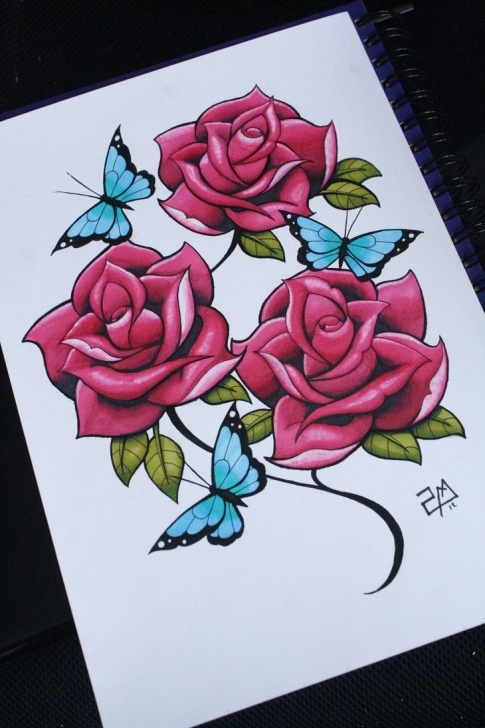 Inspiring Rose Drawing Colour Ideas I Draw Roses - Colour :d By Artisticrender On Deviantart | Rose Images
