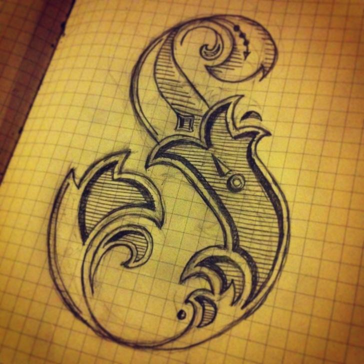 Inspiring S Letter Pencil Sketch Tutorials Decorative S. #handdrawn #typography #type #design #moleskine Image