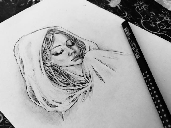 Inspiring Sad Pencil Art Courses Sad Girl, Pencil Art [4032 × 3024] : Art Pictures