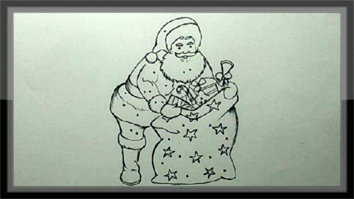 Inspiring Santa Pencil Drawing Step by Step Christmas Drawings - Pencil Drawing Santa Claus Easy Images