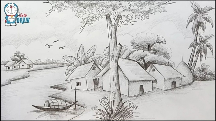 Inspiring Scenery With Pencil Step by Step How To Draw Scenery / Landscape By Pencil Sketch Step By Step | Art Pic