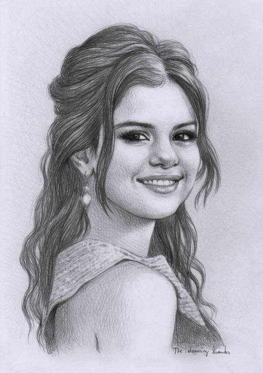Selena Gomez Pencil Sketch