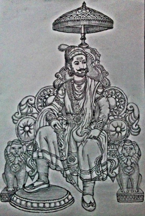 Inspiring Shivaji Maharaj Pencil Drawing Lessons Shivaji Maharaj Pencil Sketch | Mp | Sketches, Pencil Photos