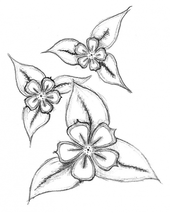 Inspiring Simple Pencil Drawings Of Flowers Techniques for Beginners Free Simple Flower Drawing, Download Free Clip Art, Free Clip Art On Pic