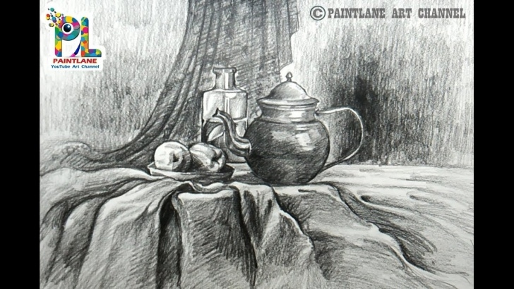 Inspiring Still Life Pencil Shading Lessons How To Draw Still Life Art With Simple Pencil Shading | Step By Step Pencil  Drawing Photo