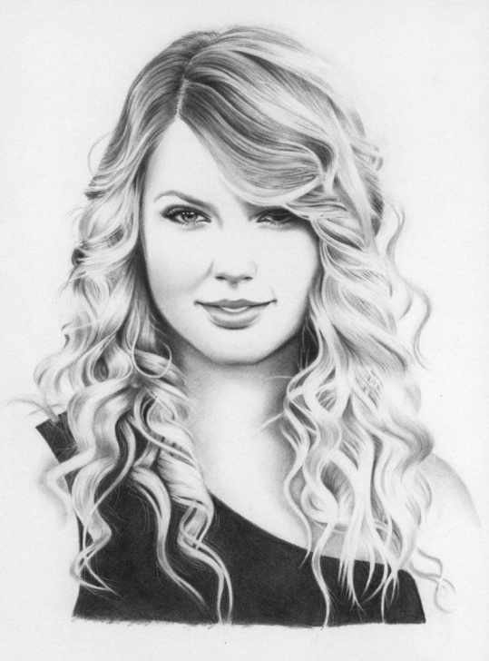 Inspiring Taylor Swift Pencil Sketch Techniques for Beginners Taylor Swift Face To Draw - Google Search | Drawing Ideas And Tips Pic