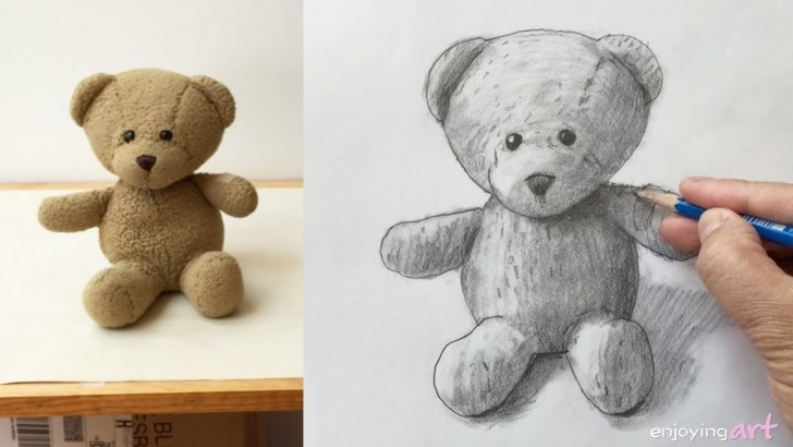 Inspiring Teddy Bear Drawings Pencil Lessons Still Life #36 - How To Draw A Teddy Bear With Graphite Pencils Photos