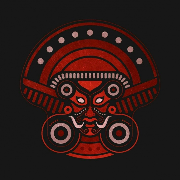 Inspiring Theyyam Pencil Drawing Techniques Agam Logo. Theyyam Influence | Theyyam In 2019 | Kerala Mural Picture