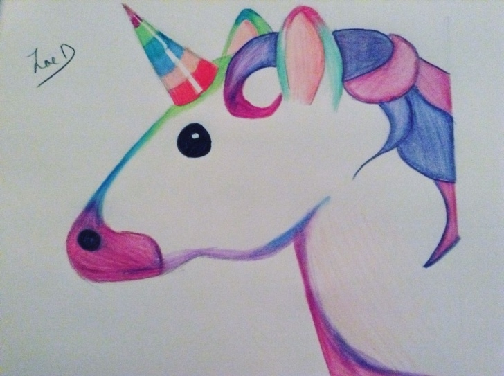 Inspiring Unicorn Pencil Drawing Tutorial Unicorn Emoji Thought It Was Too Cute Not To Draw | Unicorn | Pencil Photo