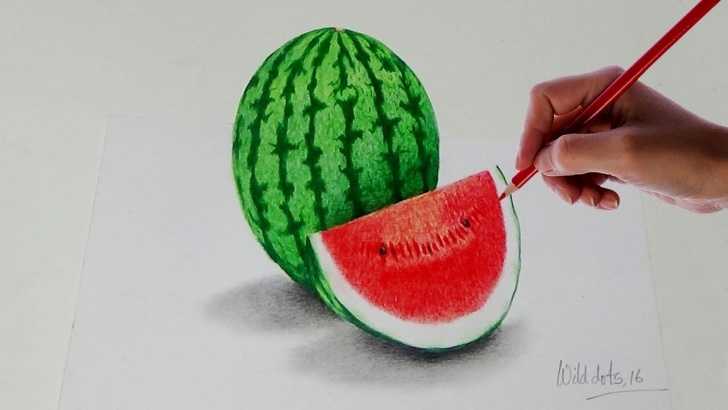 Inspiring Watermelon Pencil Drawing Ideas How To Draw A Watermelon With Simple Colored Pencils | Photo