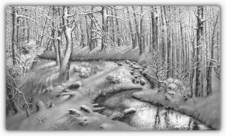 Inspiring Winter Pencil Drawings Courses Pencil Drawings Of Nature | Pencil Winter Drawings 16 200X200 Pencil Picture