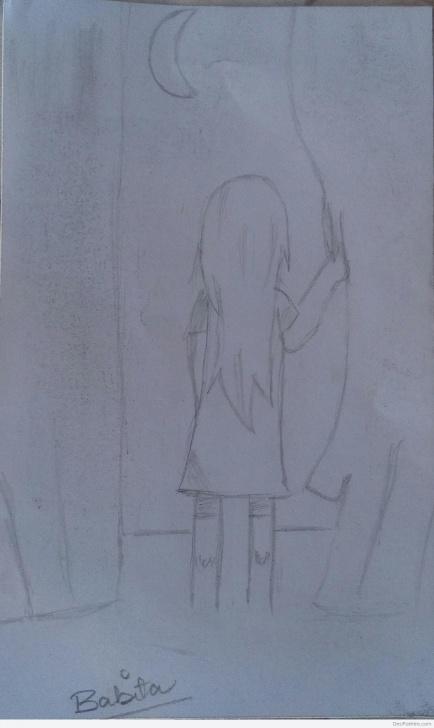 Interesting Alone Pencil Sketch Tutorials Pencil Sketch Of Alone Girl | Desipainters Image