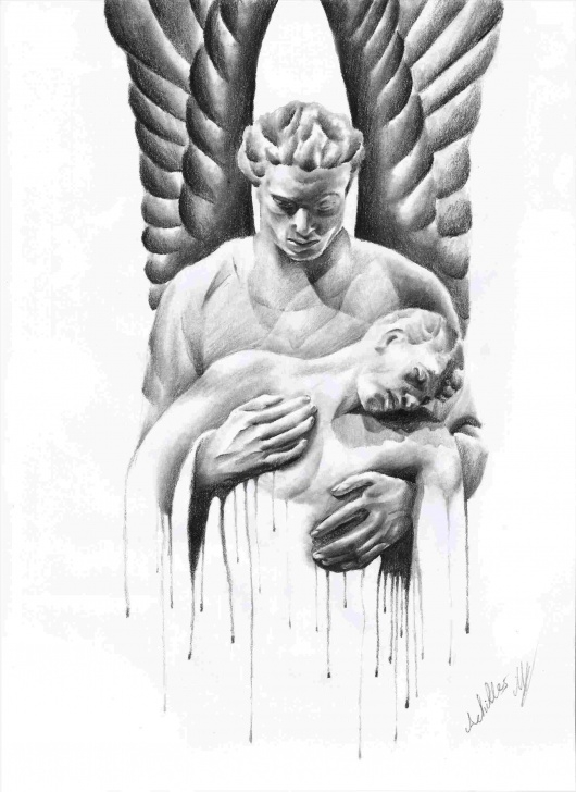 Interesting Angel Pencil Drawing for Beginners Angel Pencil Drawings At Paintingvalley | Explore Collection Of Picture