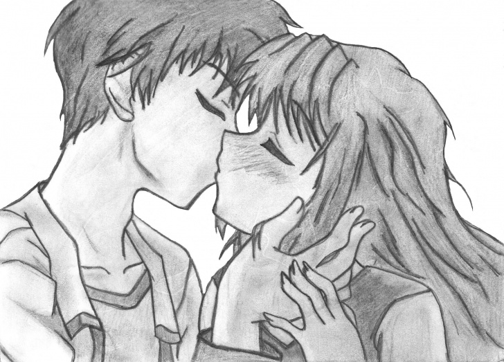 Interesting Anime Couples Drawings In Pencil Simple Anime Couple Drawing At Paintingvalley | Explore Collection Of Pics