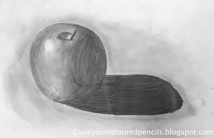 Interesting Apple Still Life Drawing Ideas Use Your Coloured Pencils: Still Life Apple Drawings Pictures
