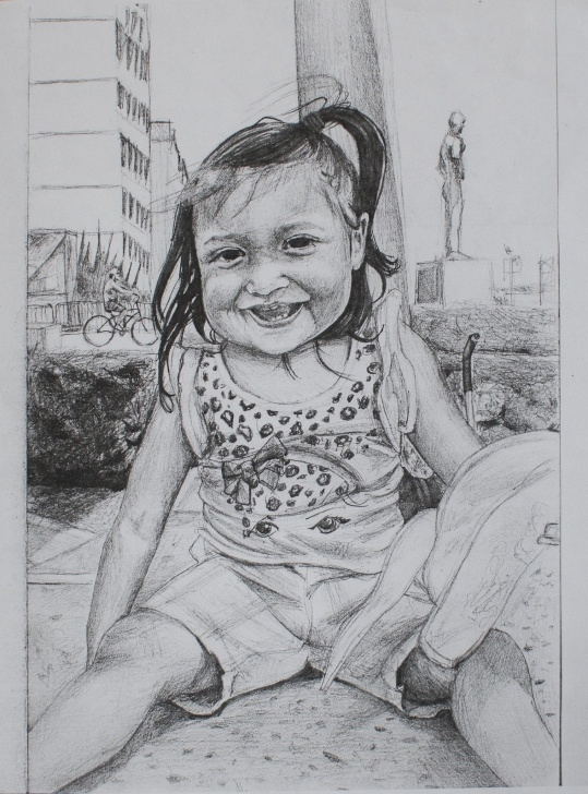 Interesting Baby Girl Pencil Drawing Tutorial Baby Girl Portrait, Pencil Drawing | My Art | Baby Girl Portraits Photo