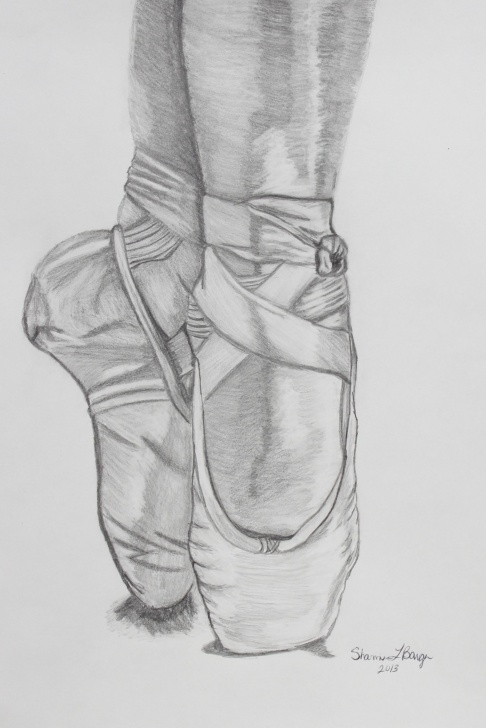 Interesting Ballerina Pencil Drawing Tutorial Ballerina Shoes. Pencil Drawing … | Artist Inspiration | Penci… Pic