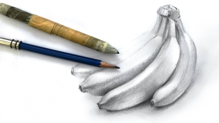 Interesting Banana Pencil Drawing Techniques for Beginners How To Draw A Bunch Of Bananas With Pencil Image