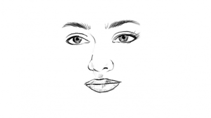 Interesting Beautiful Girl Face Sketch Ideas How To Draw A Beautiful Girl Face Eyes Nose Lips Sketch Easy Nithya Menen Photos