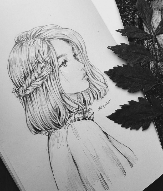 Interesting Beautiful Pencil Drawings Art for Beginners Braided Beauty With A Pencil | Sketches | Pencil Drawings, Art Photo