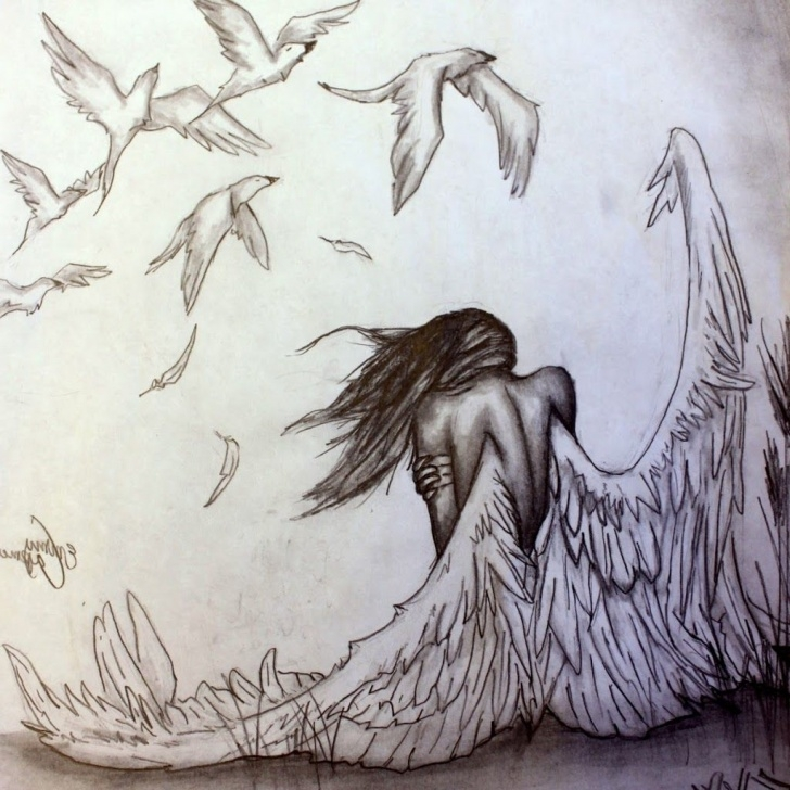 Beautiful Pencil Sketches Of Angels