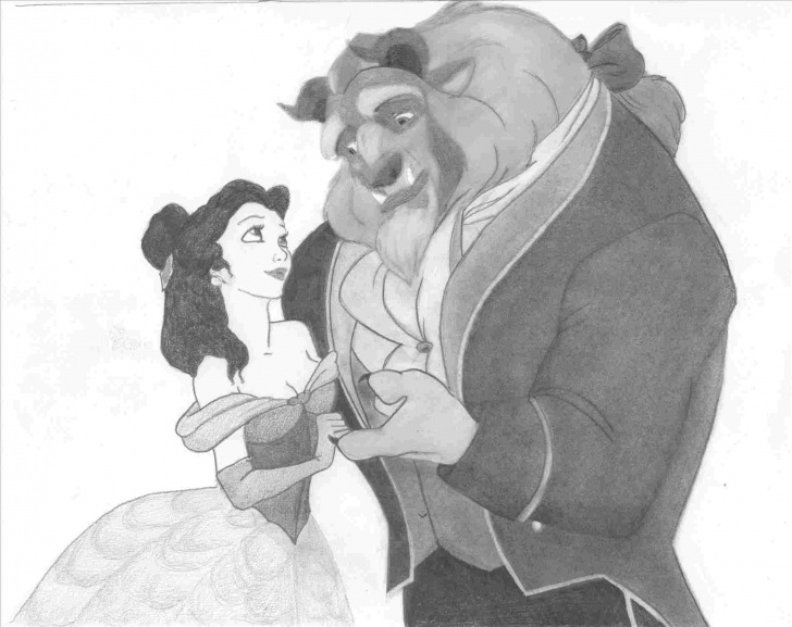 Interesting Beauty And The Beast Pencil Drawing Ideas Beast-Pencil-Drawing-Disney-Princess-Belle-Rhkrazykirstybblogspotcom Pic