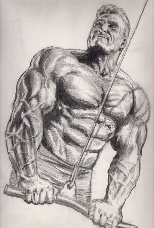 Interesting Bodybuilder Pencil Sketch Ideas Bodybuilder Sketch At Paintingvalley | Explore Collection Of Picture