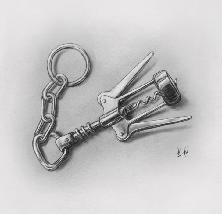 Interesting Chain Pencil Drawing Tutorials My Pencil Drawing-Cromy Key Chain(Original) — Steemit Photos