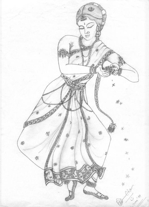 Interesting Classical Dance Pencil Drawing Techniques for Beginners Classical Dancer | Pencil Art | Pencil Art, Sketches, Art Pictures