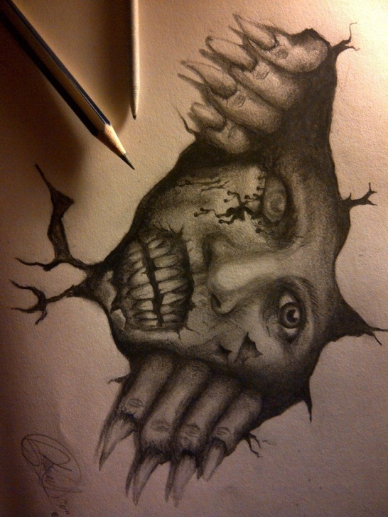 Interesting Creepy Pencil Drawings Lessons Creepy Drawings | Scary Wall By Eddydreams On Deviantart | Pencil Image